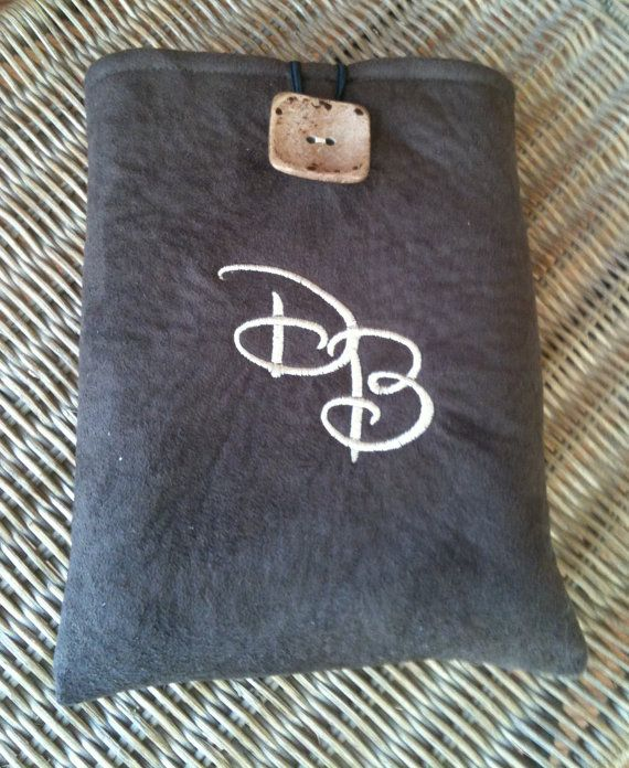 Monogrammed Kindle case in faux suede.  Great for guys or gals! www.etsy.com/shop/GetPersonalEtc