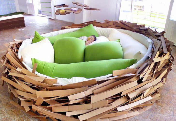 Amazing interior design giant birds nest bed for kids
