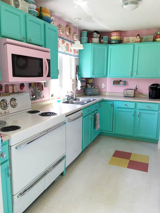 Vintage 1950s Kitchen Retro Home And Oven