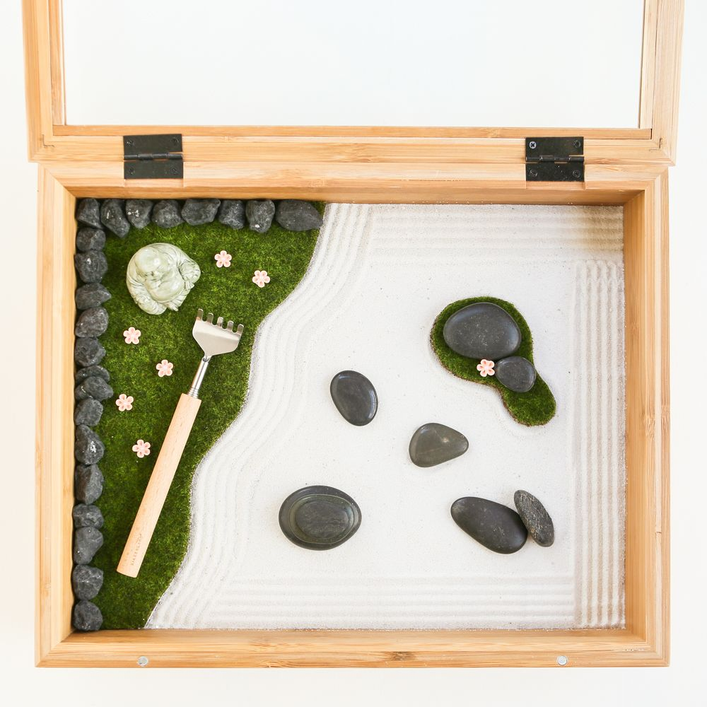 Wonderful DIY Mini Zen Garden. A Shadow Box, Metal Back Scratcher And Some Craft  Store Supplies... A Wonderful Gift Of Mindfulness For A Busy Exec!