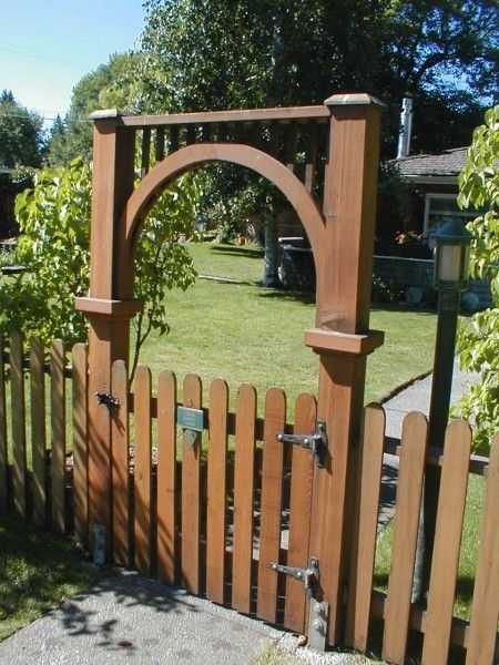 picket fence gate with arbor. Http://mikesfence.com/wp-content/gallery/picket- · Picket Fence GateArbor Gate With Arbor