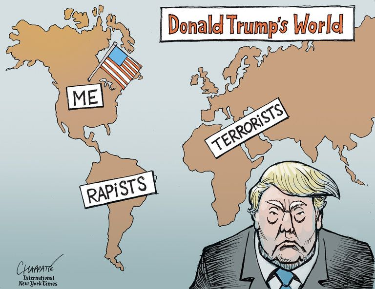 Image result for trump muslim cartoon