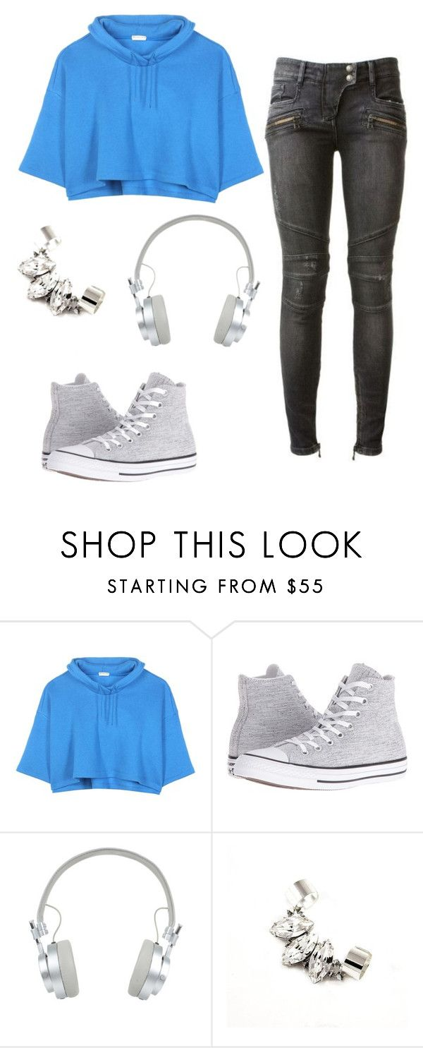 """""""Untitled #127"""" by sk8terqueen on Polyvore featuring Balmain, Balenciaga, Converse and Master & Dynamic"""