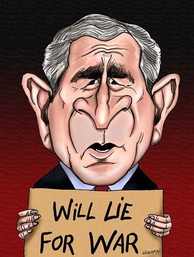 George W Bush Caricature Caricatures Political Caricature