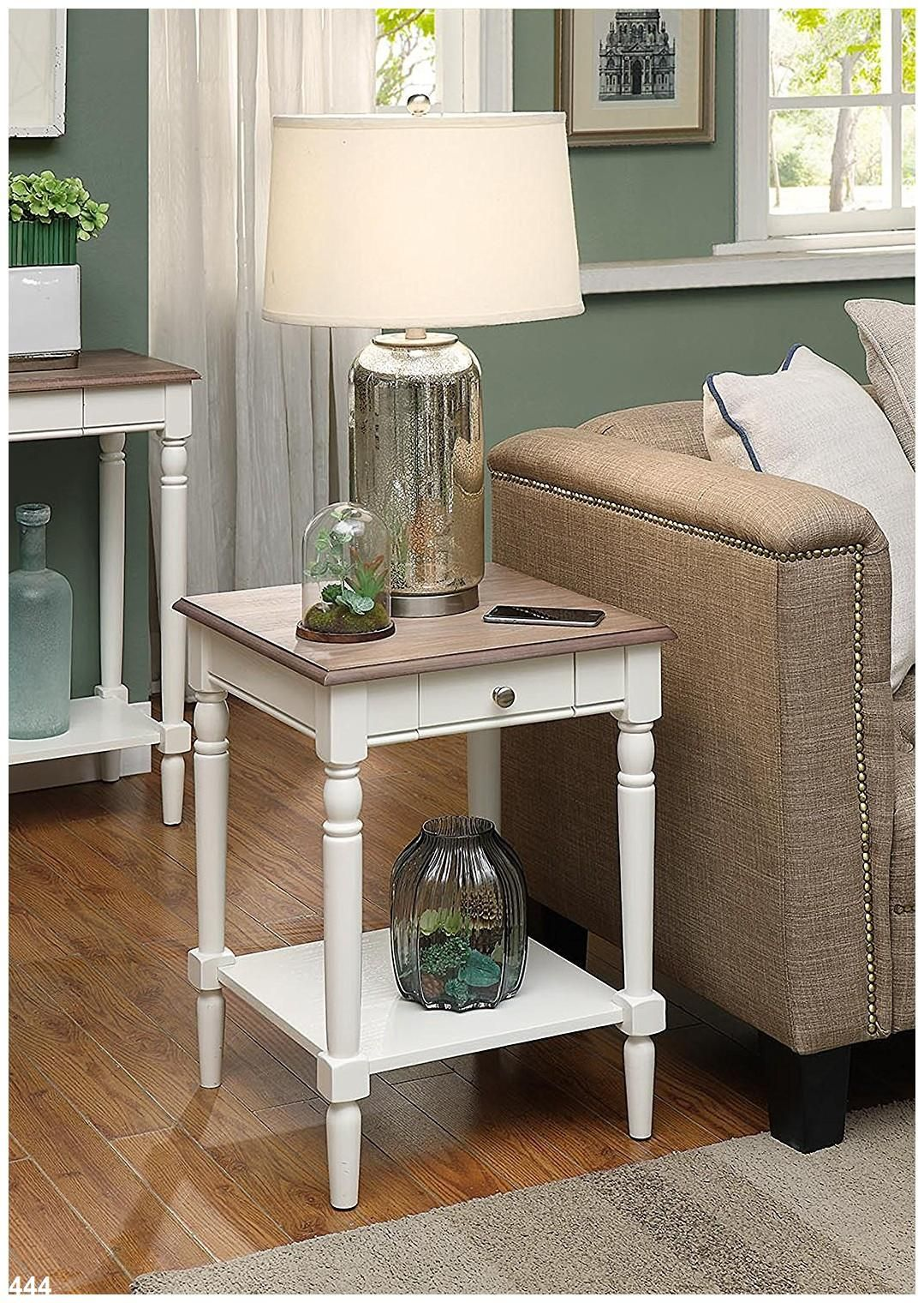 Convenience Concepts French Country End Table with Drawer