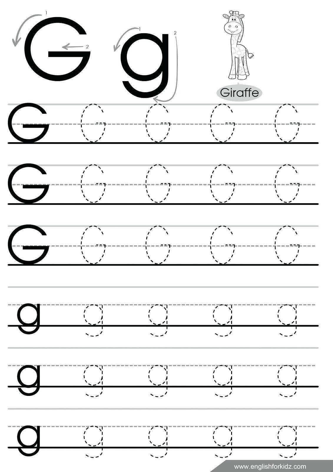 Letter G Worksheets For Kindergarten Letter Maze G Worksheet For Kindergarten In 2020 Letter G Worksheets Tracing Worksheets Preschool Letter Tracing Worksheets
