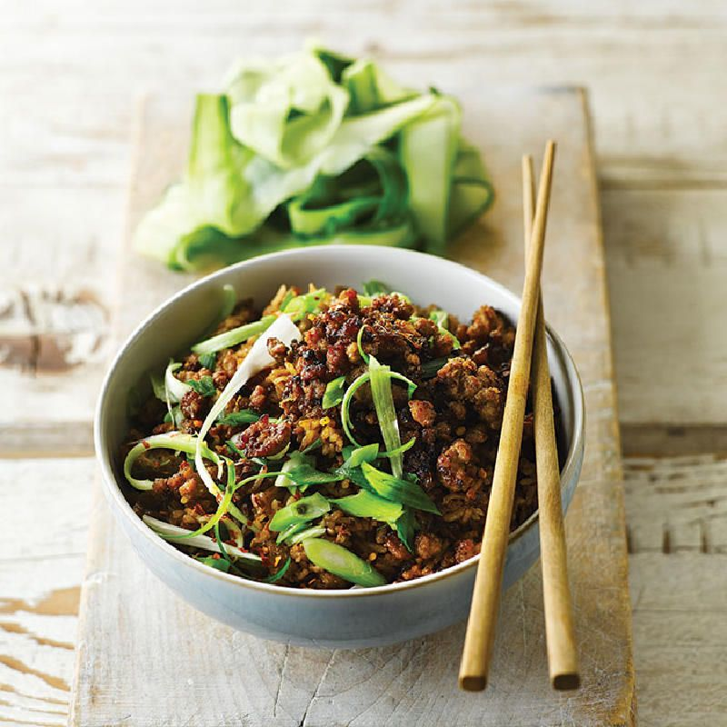 Our Best Healthy Bowl Recipes: Crispy Chinese Pork Rice Bowl