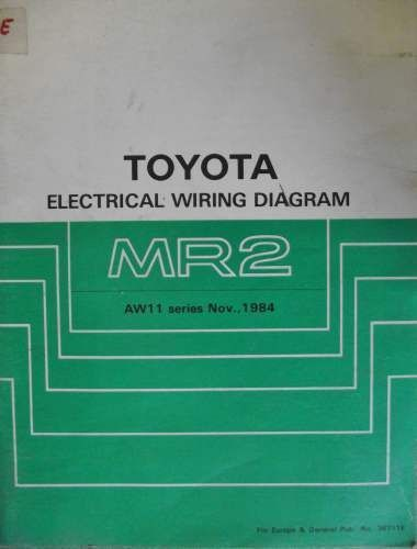 Toyota Mr2 Electrical Wiring Manual 1984 36711e