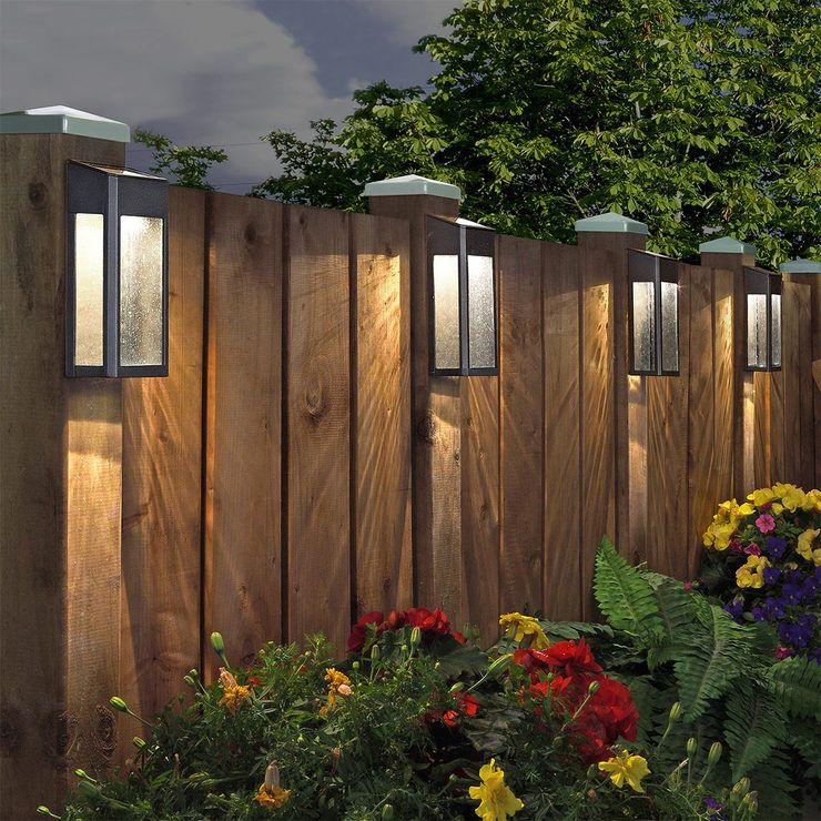 Sterno Home Paradise Solar Led Post Lights 4 Pack