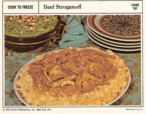 Beef stroganoff really who ate this shit pinterest vintage bad and ugly of retro food finest recipe cards forumfinder Choice Image