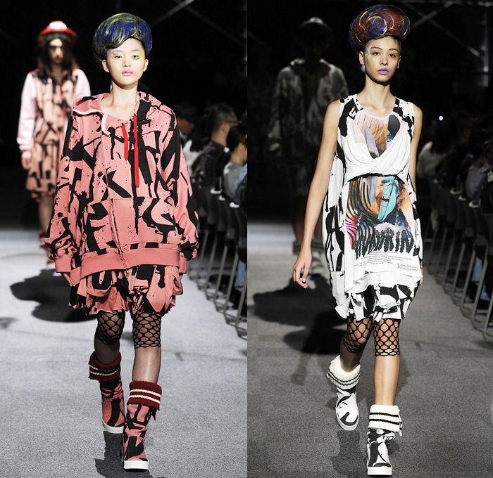 Nozomi Ishiguro Haute Couture 2014 Spring Summer Womens Runway Collection - Mercedes-Benz Fashion Week Tokyo Japan - American US Flag Stars ...