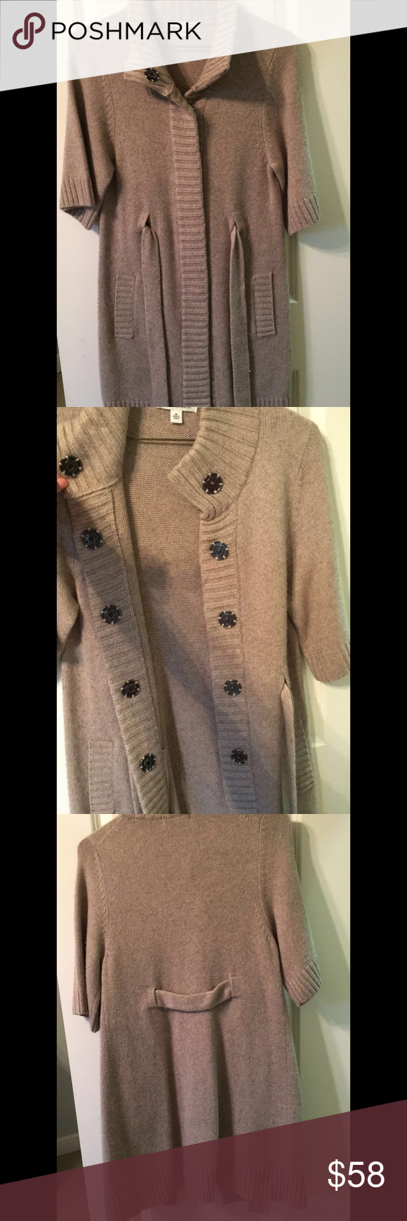 NWOT light brown button down sweater | D, Banana republic and Buttons
