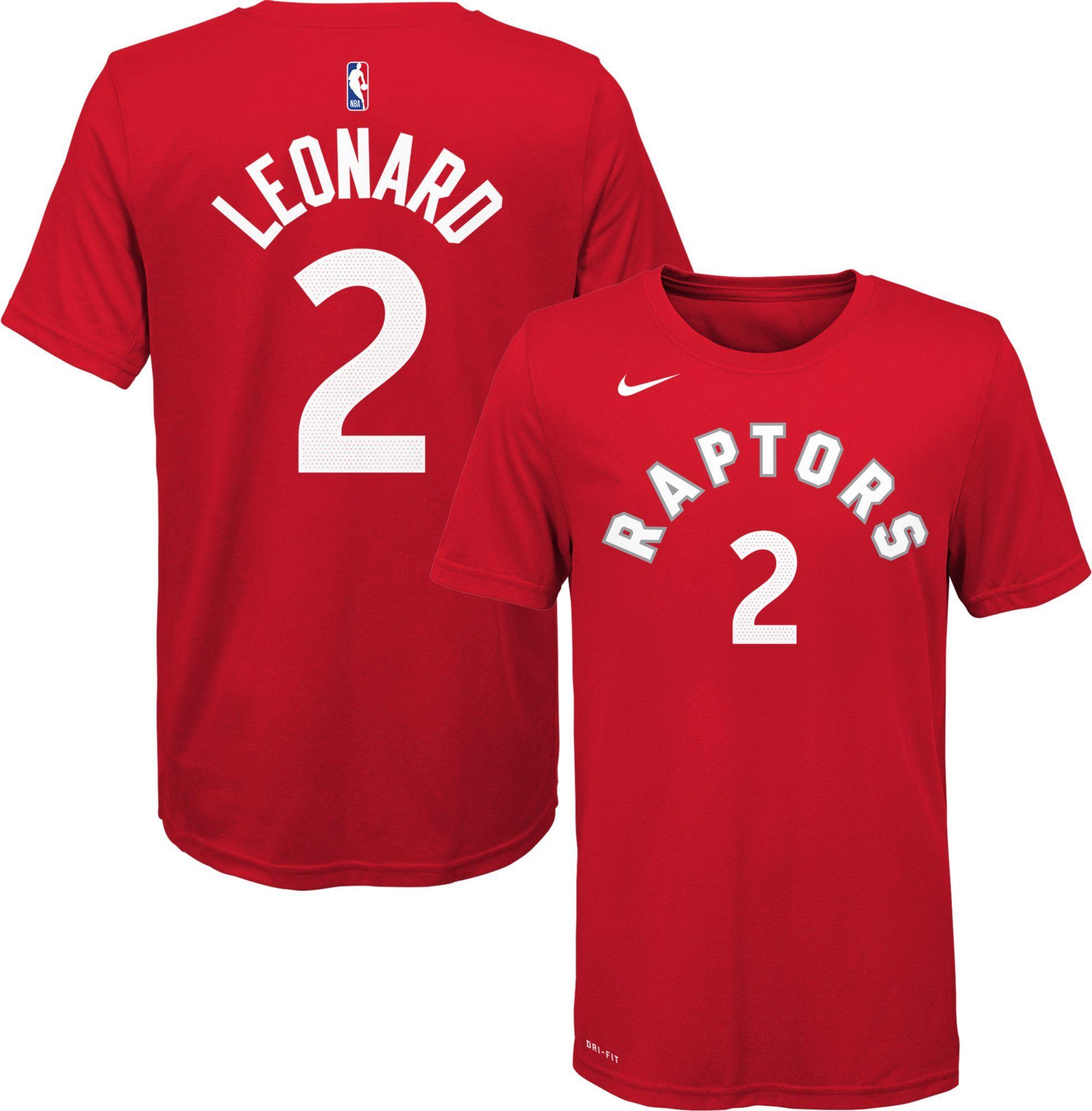san francisco 30446 25598 Nike Youth Toronto Raptors Kawhi Leonard #2 Dri-FIT Red T ...