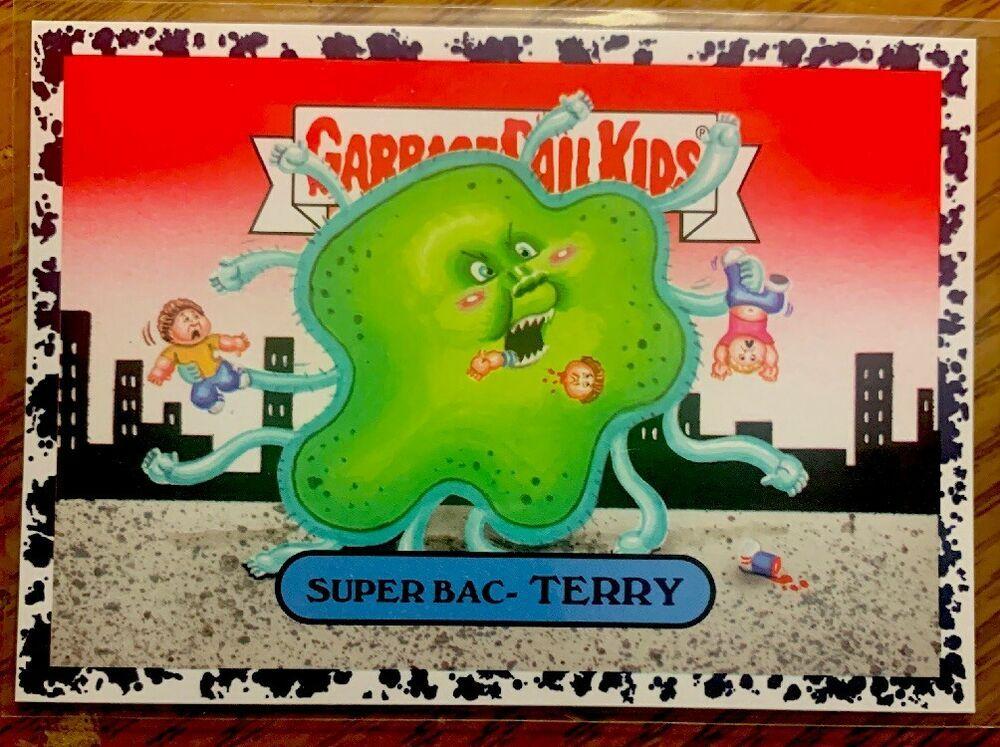 2017 Garbage Pail Kids Adam Geddon Super Bac Terry 3b Bruised Black Gpk Topps Garbagepailkids In 2020 Garbage Pail Kids Kids Pail