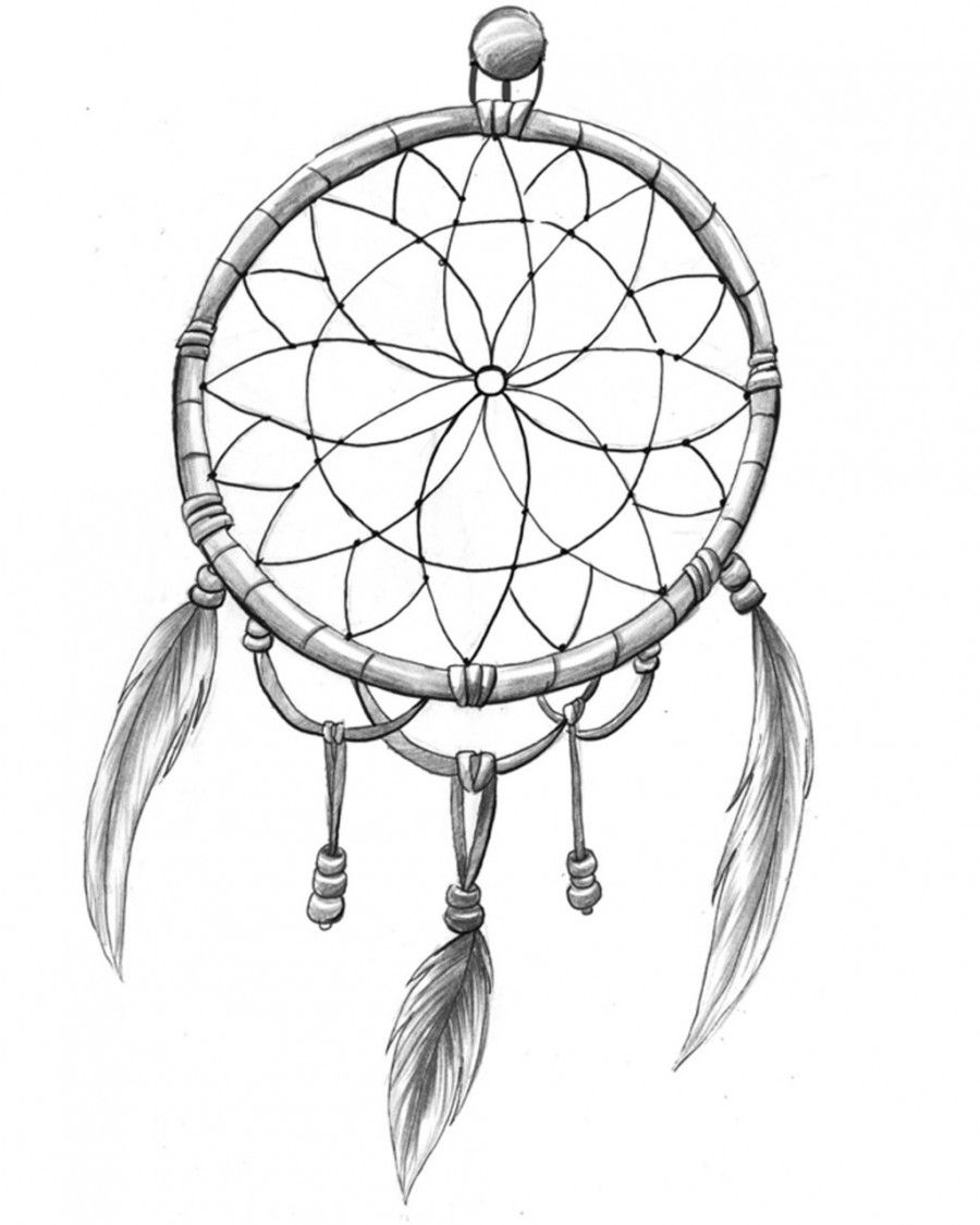 How To Draw A Simple Dream Catcher dreamcatcher tattoo black and white tumblr Cerca con Google 20
