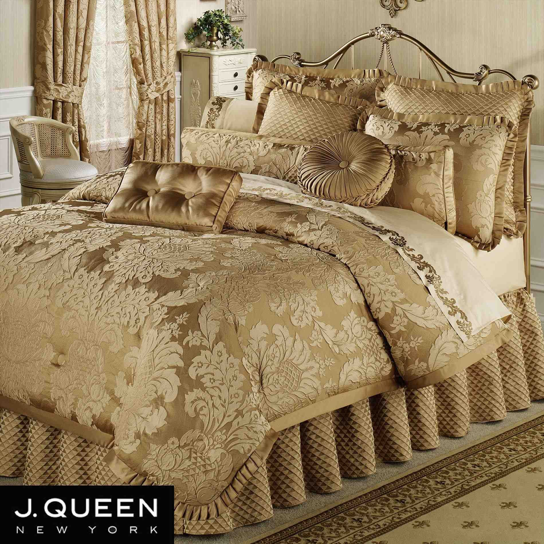 This black and gold twin bedding double needle durable stitching