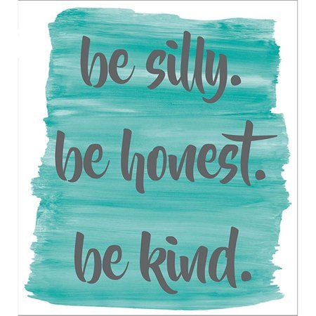 WallPops Be Silly, Honest & Kind Wall Quote - Walmart.com