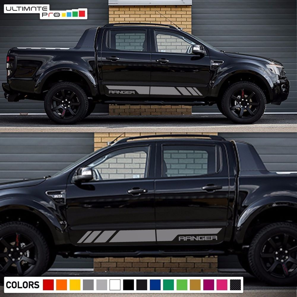 Decal sticker graphic side stripe kit for ford ranger t6 wildtrak grill door xlt ultimateprocy1ulti10deca15
