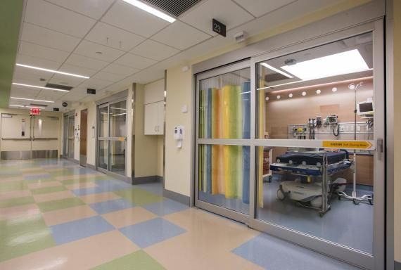 The care areas feature self-closing glass doors. Photo: NYU Langone ...