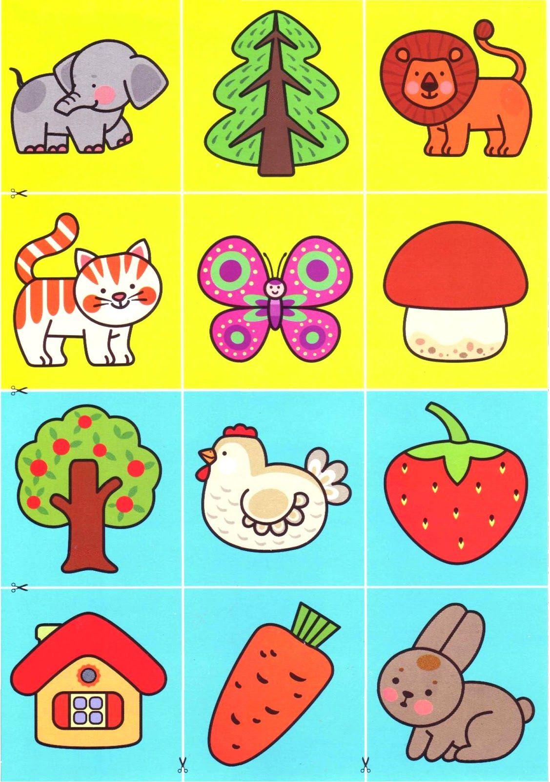 Картинки для детей 1-3 года