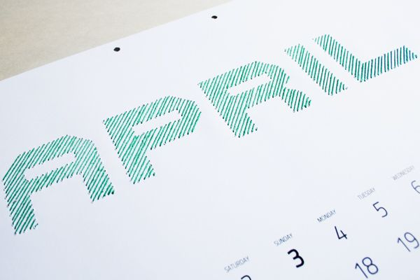 Iwona Przybyla created this DIY embroidery calendar concept