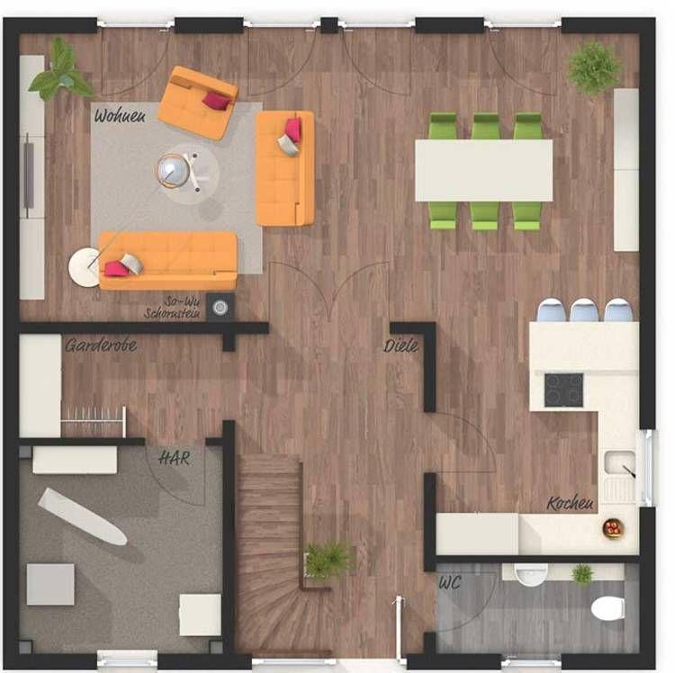 Die Stadtvilla 145 Style Grundriss Erdgeschoss Ihr