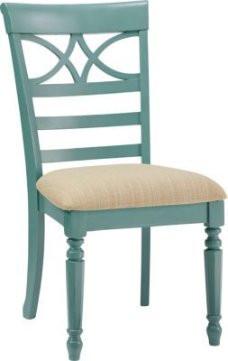 Cindy Crawford Home Ocean Grove Blue Green Upholstered Side Chair