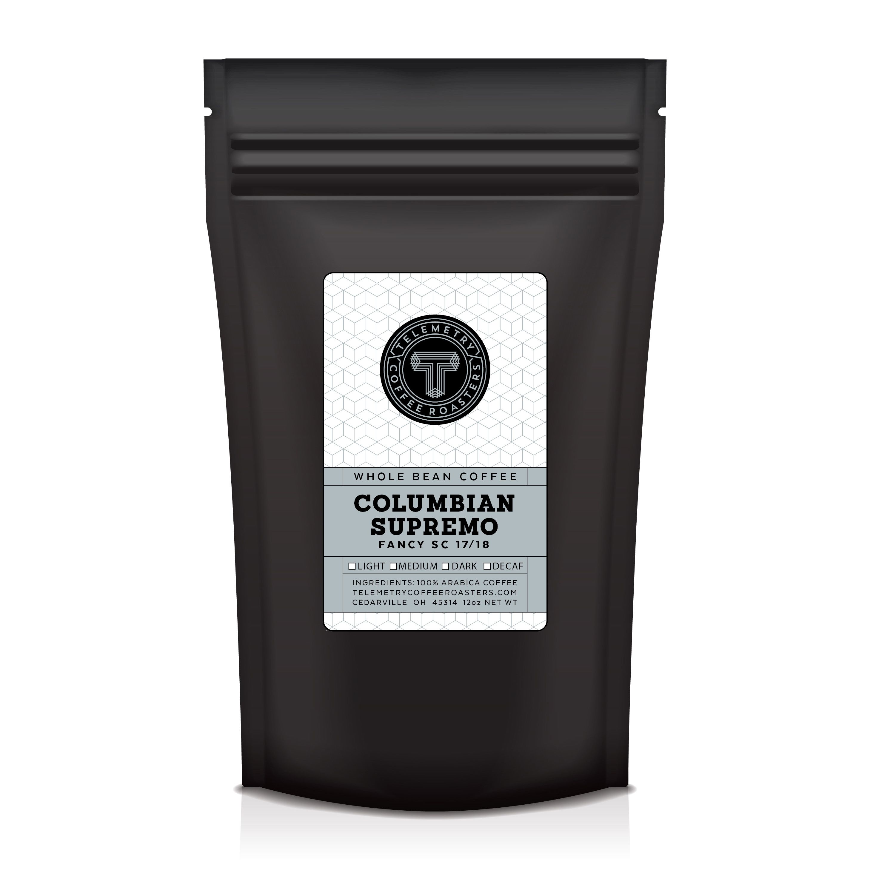 Packaging design for Telemetry Coffee Coffee, Packaging
