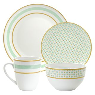 Shop for 10 Strawberry Street Mint 16-piece Dinnerware Set. Get free delivery at  sc 1 st  Pinterest & Shop for 10 Strawberry Street Mint 16-piece Dinnerware Set. Get ...