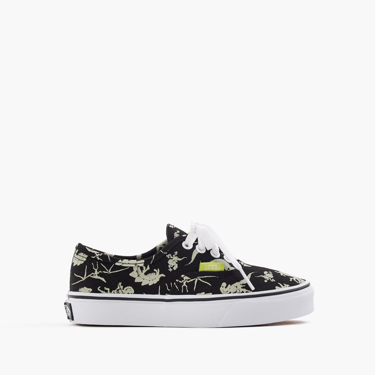 96c1d23637e crewcuts Boys Vans Authentic Glow-In-The-Dark Dinosaurs Sneakers (Size 12  Kid)