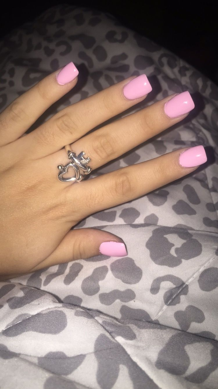 light pink short acrylics nails pinterest short