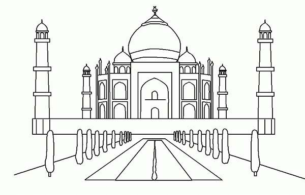 Taj Mahal 7th Wonder Of The World Coloring Page Netart Taj Mahal Taj Mahal India Coloring Pages Inspirational