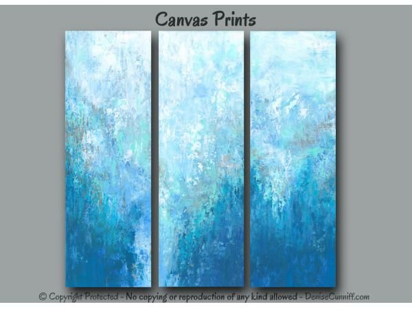Set of 3 abstract fine art giclee prints designed for Teal, Brown, Tan, and Blue home or office wall decor. Description from pinterest.com. I searched for this on bing.com/images