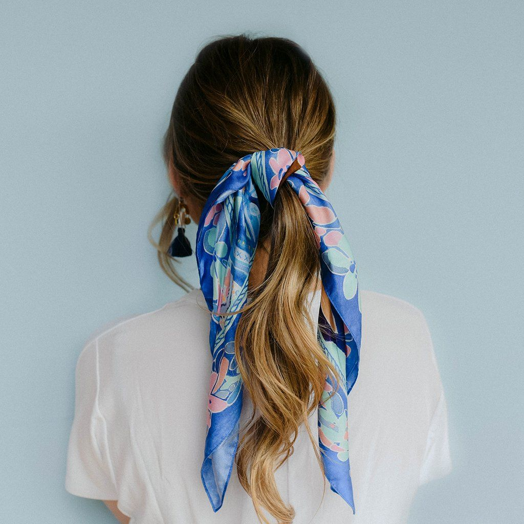 100 Silk Flower Scarf Scarf Hairstyles Silk Flowers Silk Hair