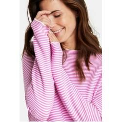 Photo of Gerry Weber Fein gestreifter Pullover lila / pink / ecru / weiß gestreift Frauen Gerry Weber