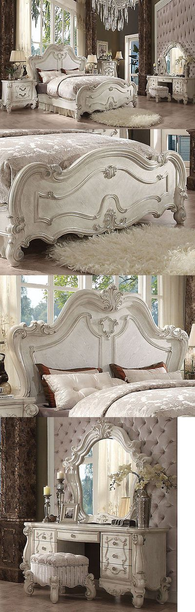 Bedroom Sets 20480 New European Traditional Design Antique White