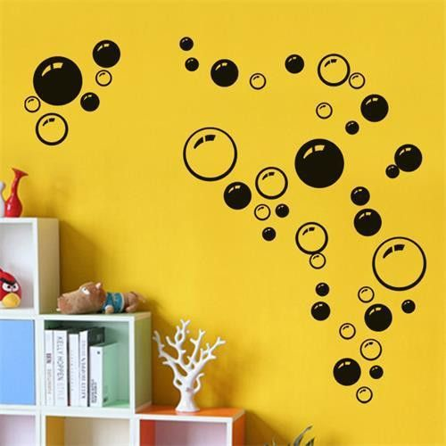 Creative Bubbles Wall Art Bathroom Window Shower Tile Decoration ...