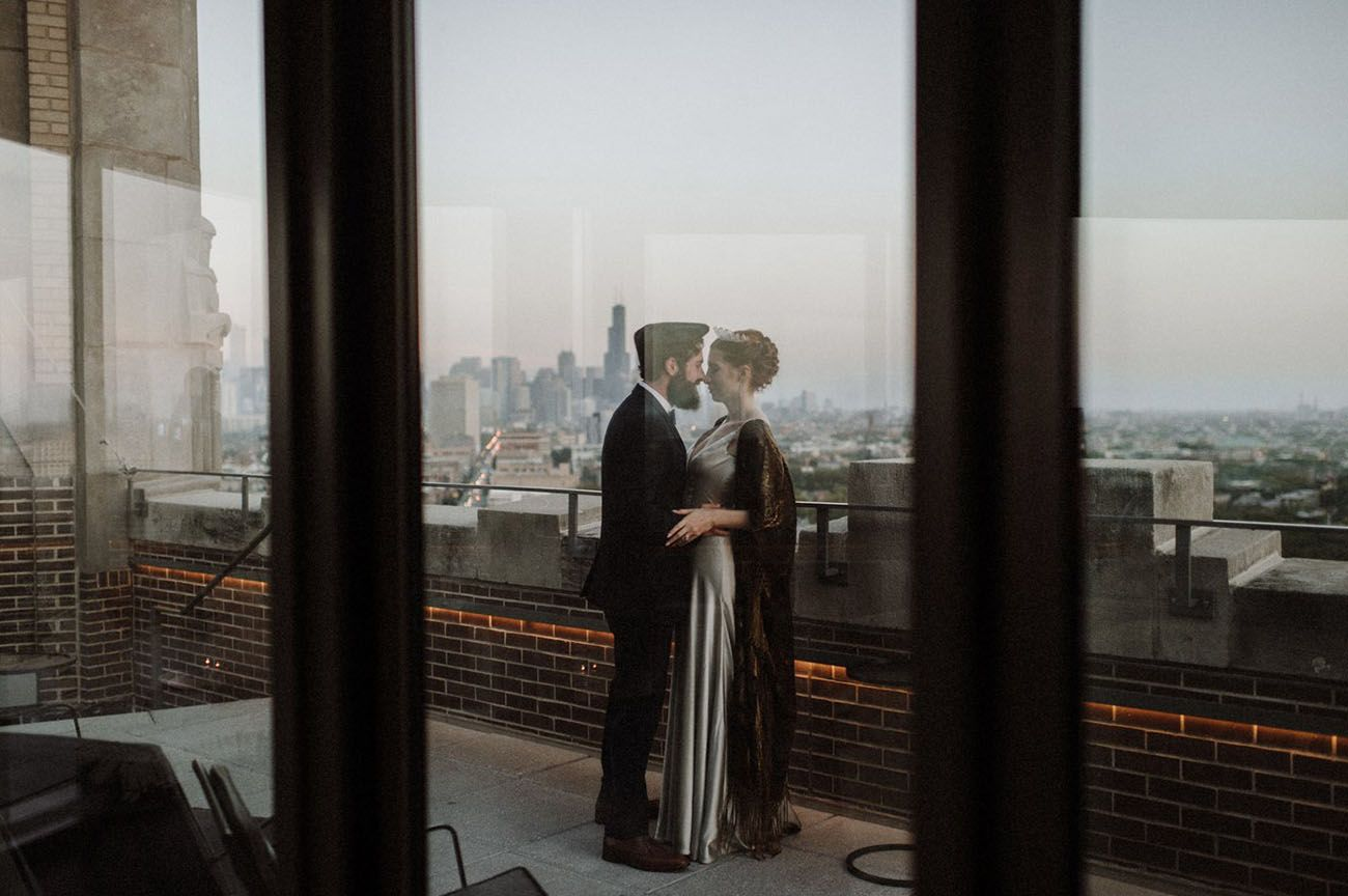 Sleek + Silver: An Edgy + Intimate Chicago Elopement