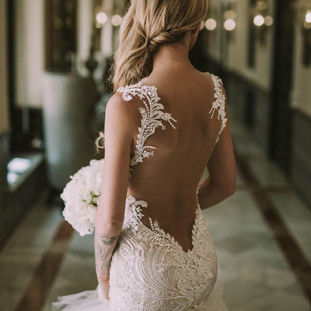 Платья свадебные с открытой спиной картинки