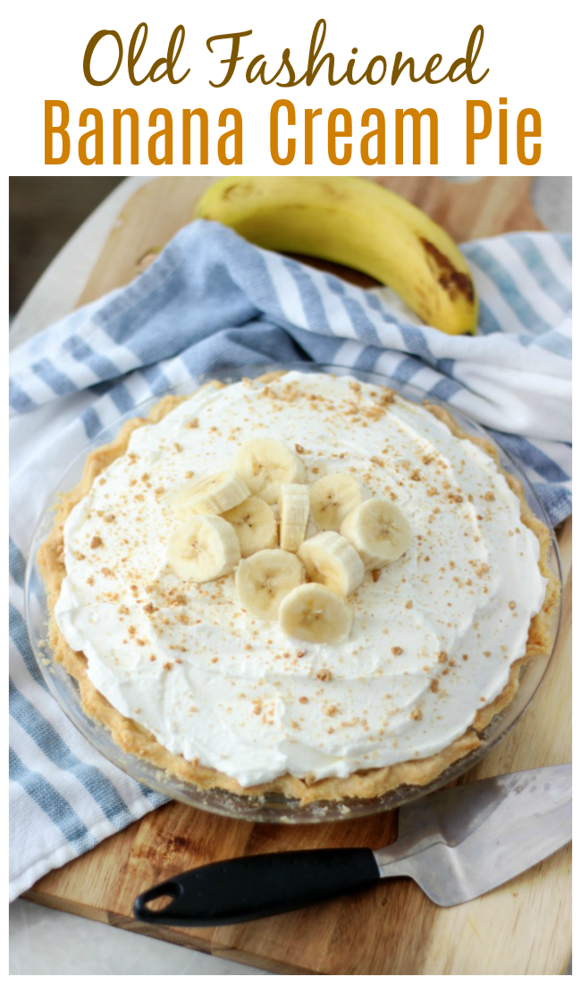 Old Fashioned Banana Cream Pie Recipe (Video) #bananapie