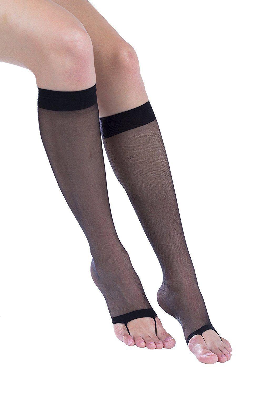 65af2122fe8 2 Pairs of Felicity Open Toe Trouser Socks