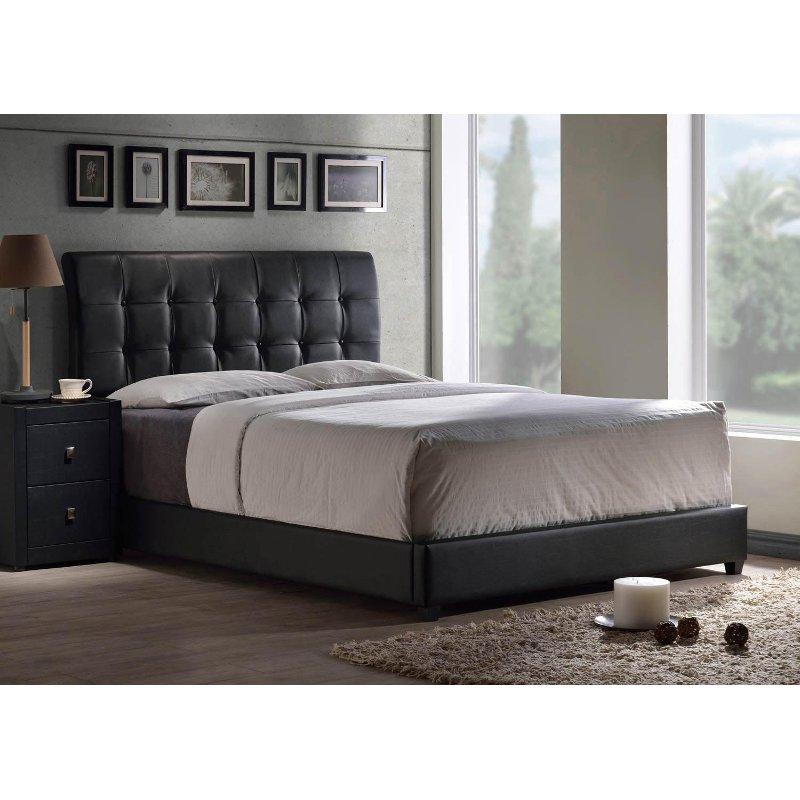 Black Upholstered King Platform Bed Lusso Full Bedding Sets Bedding Sets Leather Bed