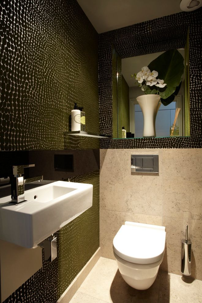 Cloakroom Ideas For Contemporary Cloakroom Cloakroom Bathroom Ideas Uk Faux Brick Wallpaper