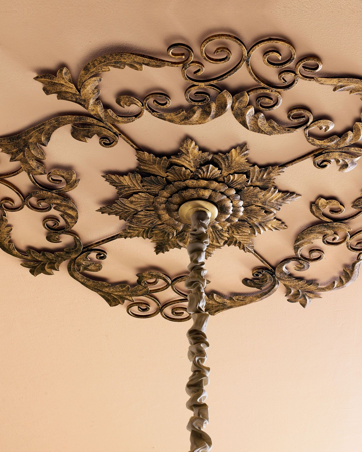 Metal Ceiling Medallion Acanthusleaf Medallion Adds A Design Element To The Ceiling