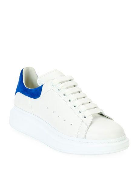 ALEXANDER MCQUEEN Leather & Suede Low-Top Sneaker, White ...