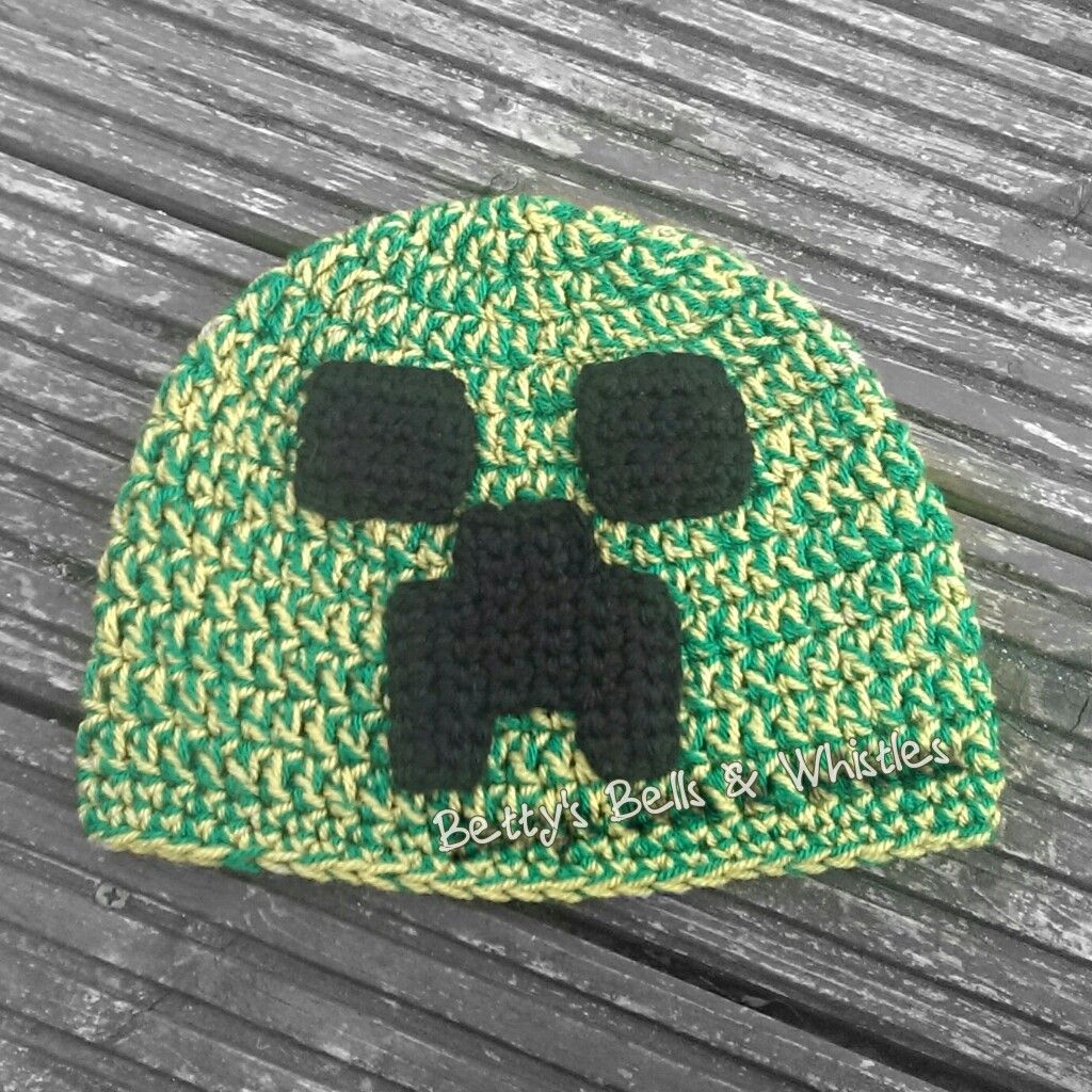 Minecraft creeper inspired hat pattern | Creepers, Crochet and Patterns