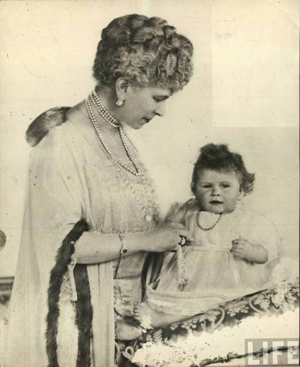 Queen Mary with her granddaughter, Princess Elizabeth, c