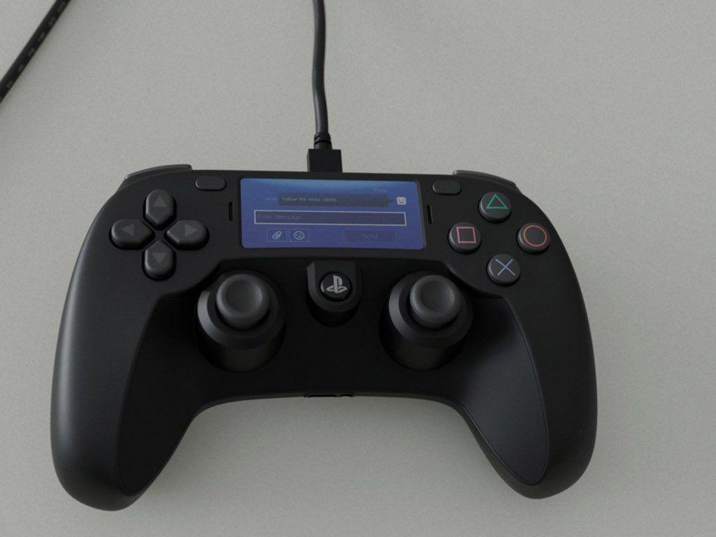 صورة تسريب يدعي أن هذا هو ذراع تحكم Ps5 بلايستيشن 5 المنتظر Dualshock Playstation Controller Control