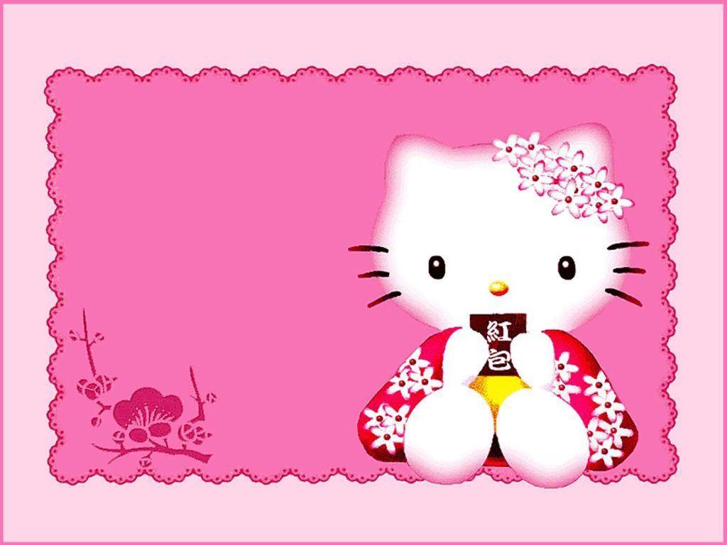 Cute Pink Hello Kitty Invitation Template Hello Kitty