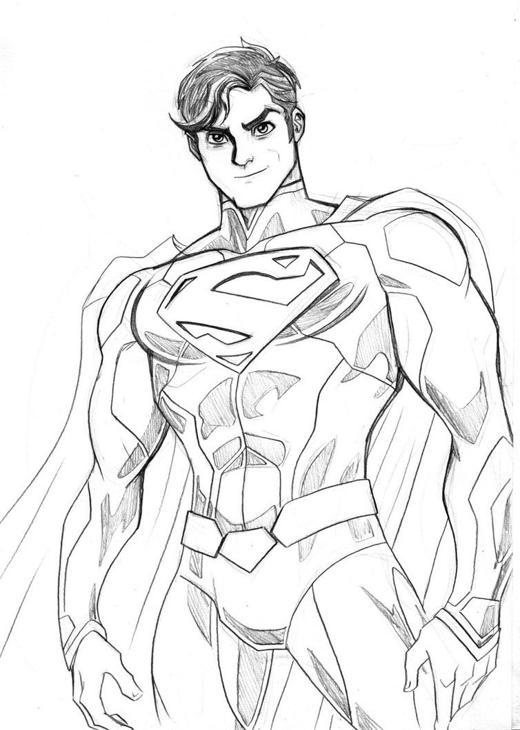 superman sketch by lucianovecchio on deviantart coloring pages